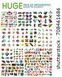 huge mega pack of infographic... | Shutterstock .eps vector #708461686