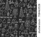 christmas xmas new year... | Shutterstock .eps vector #708463528