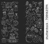 christmas xmas new year... | Shutterstock .eps vector #708463594