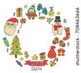 christmas xmas new year... | Shutterstock .eps vector #708463666