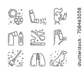 vector icons on the theme of... | Shutterstock .eps vector #708465058