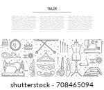 banner on the theme of... | Shutterstock .eps vector #708465094