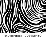 zebra print  animal skin  tiger ... | Shutterstock .eps vector #708465460