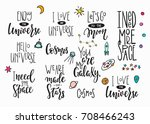 my universe love star moon... | Shutterstock .eps vector #708466243