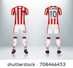 3d realistic of font and back... | Shutterstock .eps vector #708466453