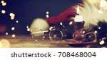 christmas and new year s... | Shutterstock . vector #708468004