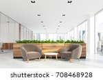 modern office waiting area with ... | Shutterstock . vector #708468928