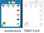 preschool worksheet for... | Shutterstock .eps vector #708471124