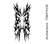 tattoo tribal vector design.... | Shutterstock .eps vector #708474130