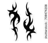 tribal tattoo art designs.... | Shutterstock .eps vector #708474208