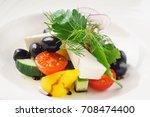 greek salad   Shutterstock . vector #708474400