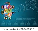idea concept for business... | Shutterstock .eps vector #708475918