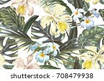 floral seamless vector tropical ... | Shutterstock .eps vector #708479938