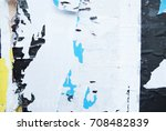 ripped torn wall paper abstract ... | Shutterstock . vector #708482839
