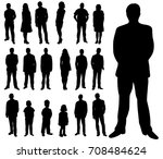 isolated silhouettes set of... | Shutterstock . vector #708484624