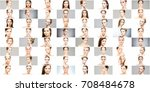 collage of different women... | Shutterstock . vector #708484678