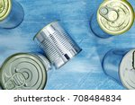 a studio photo of canned food | Shutterstock . vector #708484834