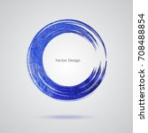 blue grunge hand drawn texture... | Shutterstock .eps vector #708488854