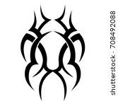 tattoo tribal vector design.... | Shutterstock .eps vector #708492088