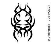 tribal tattoo art designs.... | Shutterstock .eps vector #708492124