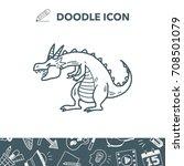 dragon doodle | Shutterstock .eps vector #708501079