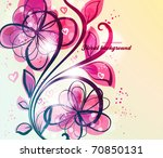 cute floral seamless background ... | Shutterstock .eps vector #70850131
