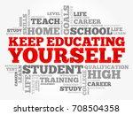 keep educating yourself word