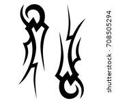 tribal tattoo art designs.... | Shutterstock .eps vector #708505294