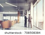 waiting area of an office with... | Shutterstock . vector #708508384