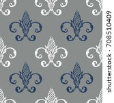 fleur de lis background texture.... | Shutterstock .eps vector #708510409