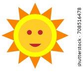 flat color sun icon | Shutterstock .eps vector #708516478