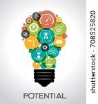 potential design concept.... | Shutterstock .eps vector #708525820