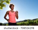 portrait of healthy black woman ... | Shutterstock . vector #708526198
