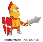 illustration of a cute knight.... | Shutterstock . vector #708528718