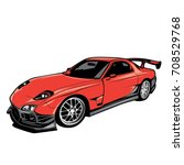 sport car | Shutterstock .eps vector #708529768