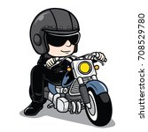 man ride a motorcycle | Shutterstock .eps vector #708529780