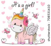 baby shower greeting card with... | Shutterstock .eps vector #708531610