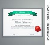 clean certificate design... | Shutterstock .eps vector #708531934