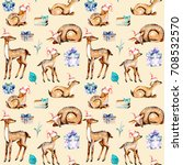 seamless pattern with... | Shutterstock . vector #708532570