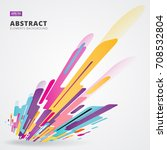 abstraction modern style... | Shutterstock .eps vector #708532804