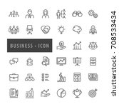business  icons set  vector | Shutterstock .eps vector #708533434