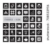 business finance icons set ...   Shutterstock .eps vector #708533956