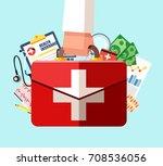 healthcare insurance concept.... | Shutterstock .eps vector #708536056