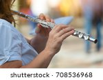 transverse flute played by a...   Shutterstock . vector #708536968