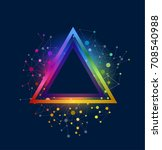abstract triangle background... | Shutterstock .eps vector #708540988