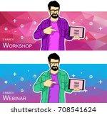 mobile tablet template for...   Shutterstock .eps vector #708541624