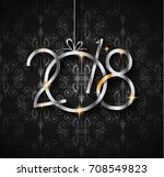 2018 happy new year background... | Shutterstock .eps vector #708549823