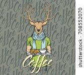 breakfast vector concept.... | Shutterstock .eps vector #708552070