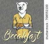 breakfast vector concept.... | Shutterstock .eps vector #708552100