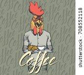 breakfast vector concept.... | Shutterstock .eps vector #708552118